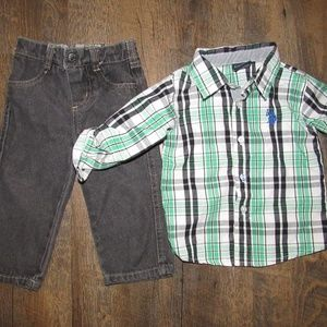 U.S. POLO ASSN outfit toddler boys size 18 months